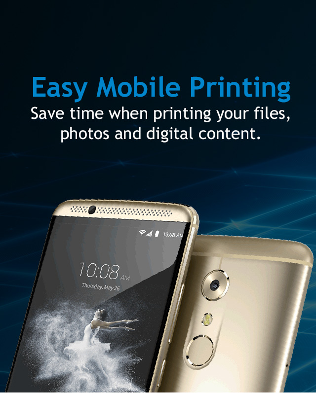 Your ZTE phone can print to Mopria certified printers.